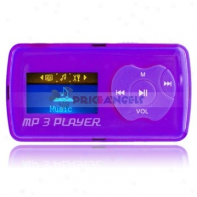 Uhgu G39 2gb 1.1-inch Screen Stereo Mp3 Player With Speaker(purple)