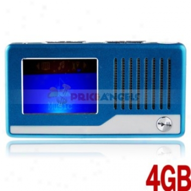 Uggu Ug200 4gb 1.4-inch Screen Stereo Mp3 Player With Speaker/fm/recotdet(blue)