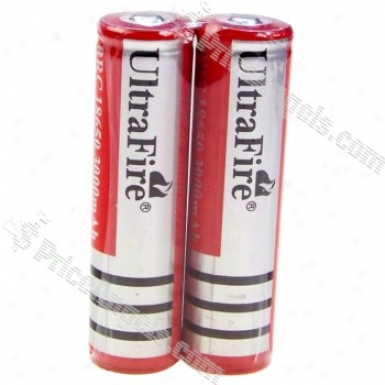 Ultrafire Brc 18650 3.7v 3000mah Rechargeable Lithium Battery (2-pack)