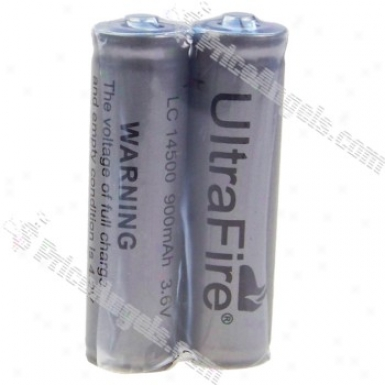 Ultrafire Lc14500 3.6v 900mah Rechargeable Lithium Battery (2-pack)