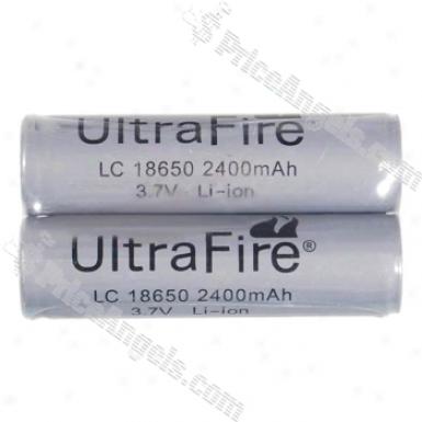 Ultrafire Protected 18650 3.7v 2400mah Batteries (2-pack)
