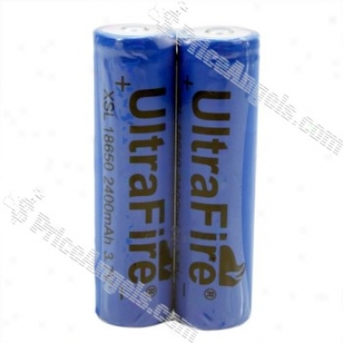 Ultrafire Xsl18650 3.6v 2400mah Rechargeable Lithium Battery (2-pack)