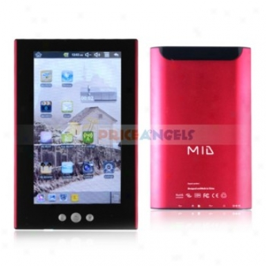 Unik Pc-719 2gb Android 2.2 Via Wm 8650 800mhz 7-inch Touch Screen Tablet Pc Laptop With Camera Wifi(red)
