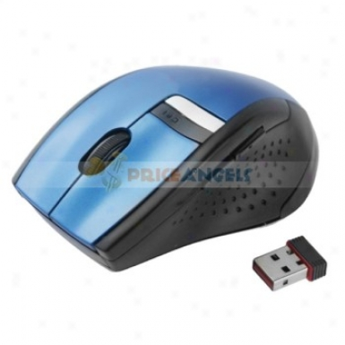 Unique Deaign 2.4ghz 10m 1600dpi Wireless Optical MouseF or Pc(blue)