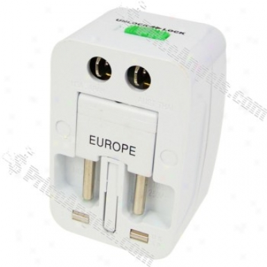 Universal All-in-1 World Wide Travel Power Adapter Plug (us / Uk / Eu Plug)