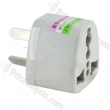 Universal Outlet Power Adapter Australian Plug(silver)