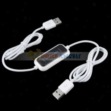 Usb Data Share Transfer File Data Link Online Cable For Computer(white)