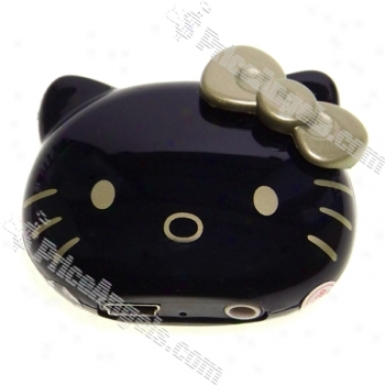 Usb Powered Cute Kitty Mini Face Mp3 Mimic 2gb (black)