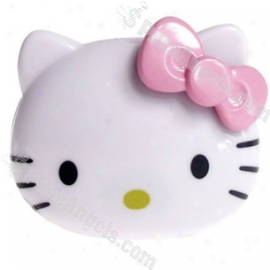 Usb Powered Cute Kitty Mini Front Mp3 Player With Built-in 2gb Memory (white & Pink)