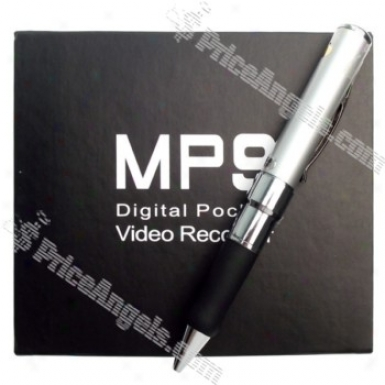 Usb Rechargeable Digital Pin-hole Spy Av Camera Disguised As Working Pen (4gb) - Eu Charger