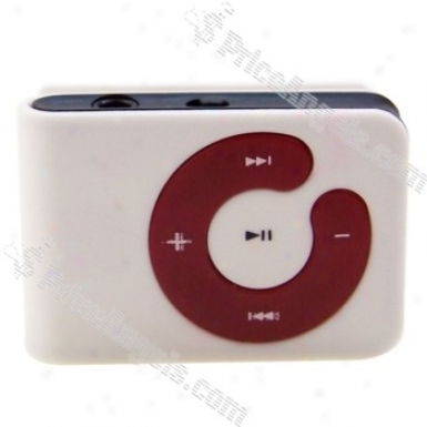 Usb Rechargeable Mini Screen-free Clip Mp3 Player(tf Slot)-white
