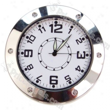 Usb Rechargeable Pin-hole Spy Camera Disguised As Working Clock (tf Slot)