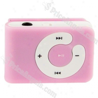 Usb Rechargeable Portable Mini Slim Clip Mp3 Player-pink(2gb)