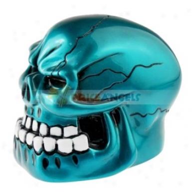 Vivid Horrible Skeletone Skull Vibration Stereo Mini Speaker(green)