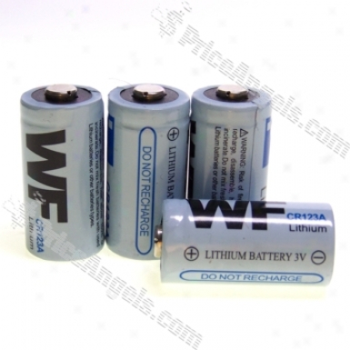 Wf Cr123a 3.0v Primitive Lithium Battery (4-pack)