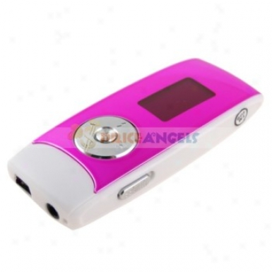 Wk-311 1.1-inch Lcd Screen Portable 4gb Digital Mp3 Player Music Player With Fm(peach)