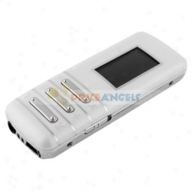 Wk-525 1.1-inch Lcd Screen Portable 4gb Digital Mp3 Player Music Player With Fm(white)