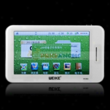 Wk-902 Movable 4gb 4.3-inch Tft Touch Mp5 Player With Music/movie/fm/tv-out(whife)