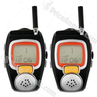 Wrist Watch Style Exquisite 2.5 Miles Working Distance Walkie-talkie(2-pack)