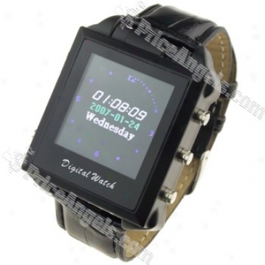 Wrist Watch Style Lcd Screen Display Usb Rechargeable 0.3m Pixel Pin-hole Spy Av Camera Mp4(4gb)