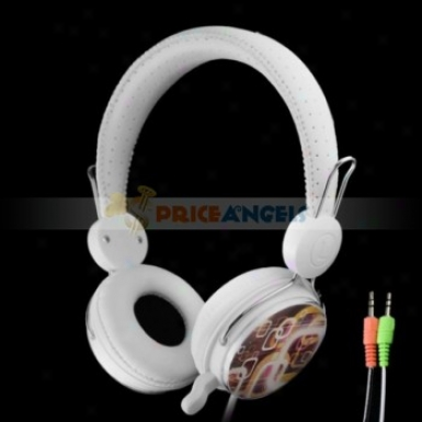 Yougle Yl-mv7 On-ear Stereo Headphone Headset With Microphone And Dimensions Control