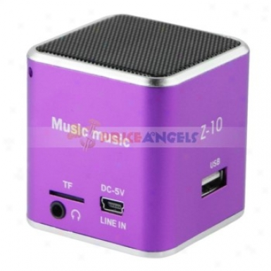 Z-10 3.5mm Audio Rechargeable Sports Speaker With Tf Card Slot/fm(purple)