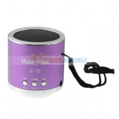 Z-12 3.5mm Audio Rechargeable Sports Speaker With Tf Card Slot/fm(purple)