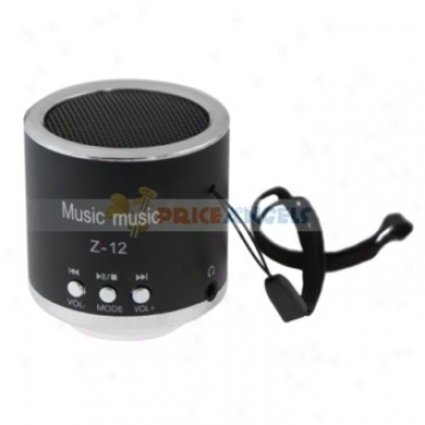 Z-12 3.5mm Audio Rechargeable Sports Speaker With Tf Card Slot/fm(black)
