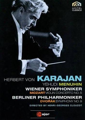 Herbert Von Karajan: Mozart - Fiddle Concerto None. 5/dvorak - Symphony None. 9