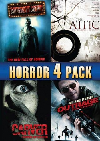 Horror 4 Pack, Vol. 1: Midnight Movie/the Attic/carver/outrage Born In Terror