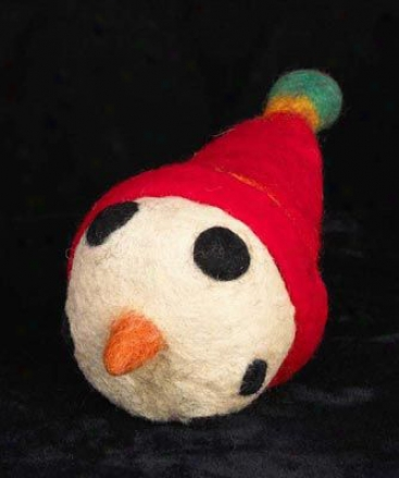 A Cheerful Pet Holiday Pet Toy Snowman Head