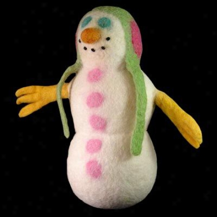A Cheerful Pet Holiday Pet Toy Snowman