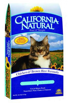 California Natural Dry Cat Food Herring & Potato 15 Lbs