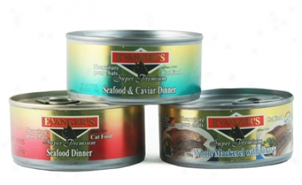 Evanger's Gold Can Cat Caviar &ammp; Seafood 5.5 Oz Case 24