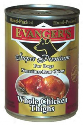 Evanger's Gold Can Dog Chicken Thighs 12 Oz