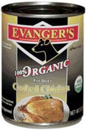Evanger's Oragnic Can Dog Food Chicken 13 Oz Case 12