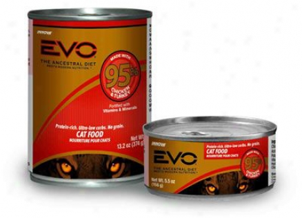 Evo 95% Meat Canned Cat Food Venison 13.2 Oz Case 12