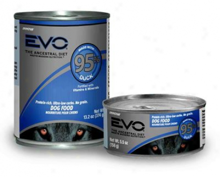Evo 95% Meat Canned Dog Turkey & Chicken 13.2oz Case 12