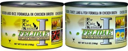 Felidae Can Cat Food Chicken Lamb & Fish 13 Oz Case 12