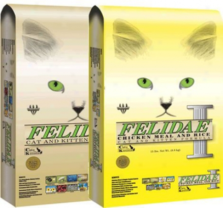 Felidae Dry Cat Food Chicken, Turkey, Lamb & Fish 51 Lb