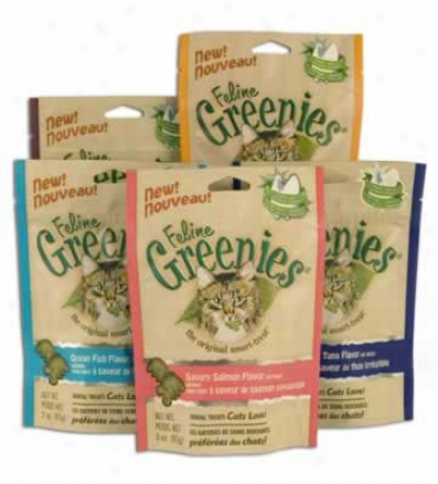 Feline Greenies Dental Cat Treats Salmon 3 Oz