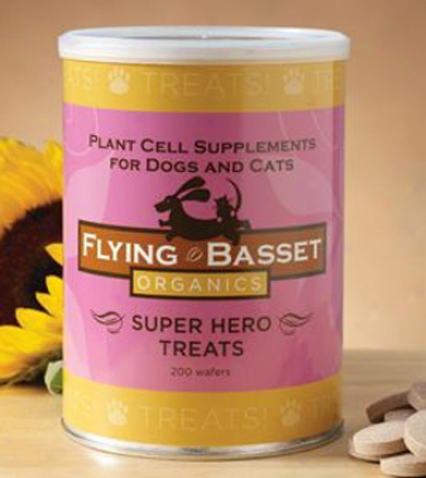 Flying Basset Super Hero Dog & Cat Treats