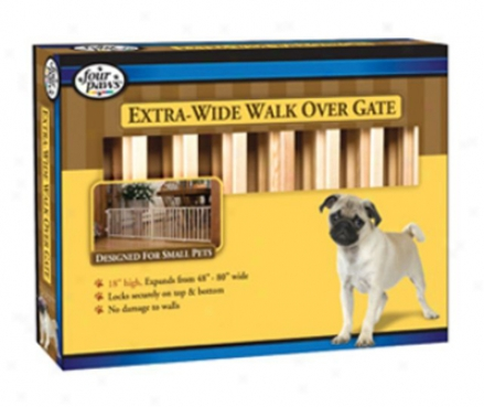 Four Paws Metal Walk Thru Gate Small (ss)