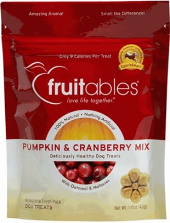 Fruitables Dog Treats Pumpkin &amp; Blueberry 7 Oz
