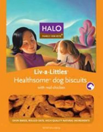 Halo Liv-a-little Helathsome Dog Biscuit Beef 8 Oz