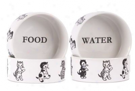 Harry Barker Water Bowl Cat - S White (ss)