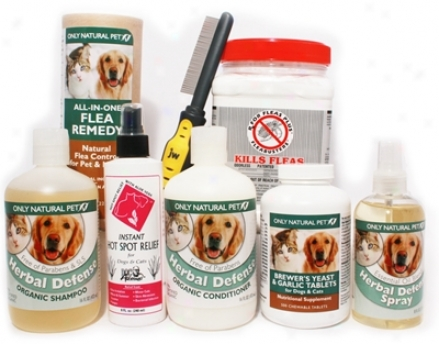 Moderate Nat8ral Flea Care Kit For Dogs