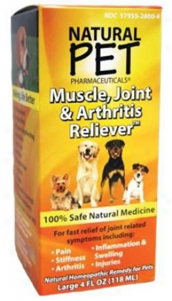 Natural Fondling Muscle Joint & Arthritis Reliever Dog 4 Oz