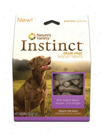 Nature's Variety Instinct Biscuits Dog Rabbit 11 Oz