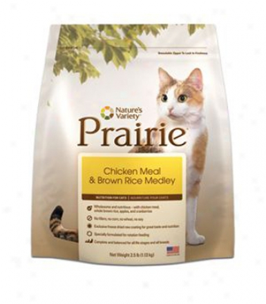 Nature&#039;s Variety Prairie Dry Cat Chicken &amp; Rice 4 Lbs